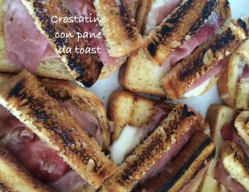 Crostatine con il pane da toast