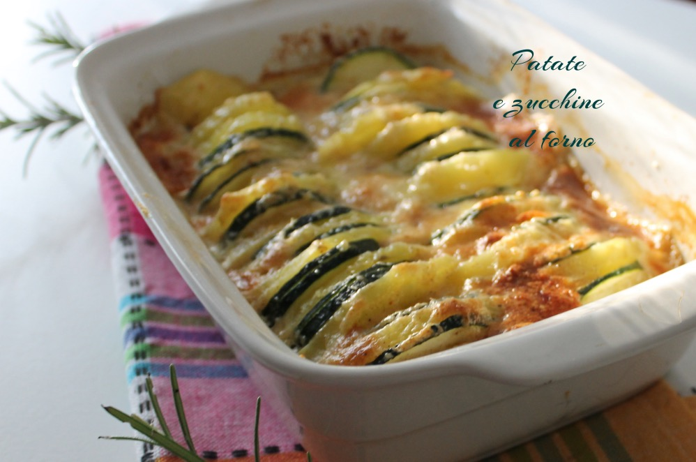 Patate e zucchine al forno blumirtillo - Forno a vapore ricette ...