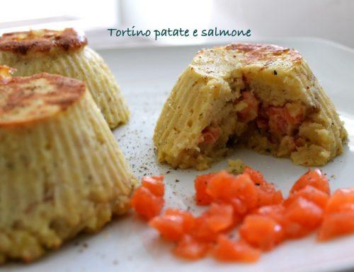 Tortino patate e salmone