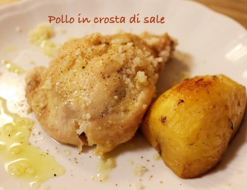 Pollo in crosta di sale