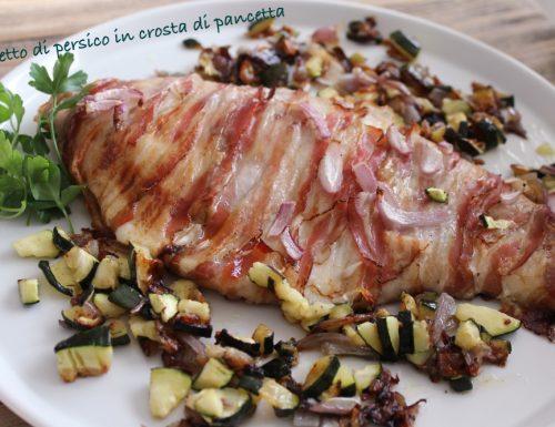 Filetto di persico in crosta di pancetta