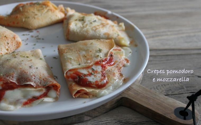 Crepes pomodoro e mozzarella