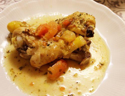 Coscette di pollo pomodoro, zenzero e limone