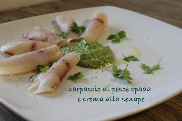 Carpaccio di pesce spada con salsa alla senape