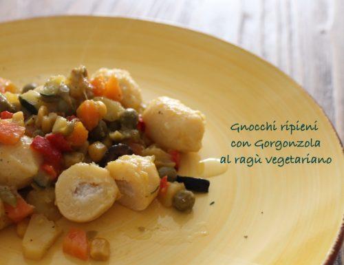 Giovedì #vogliadignocchi 6: gnocchi ripieni con gorgonzola, al ragù vegetariano