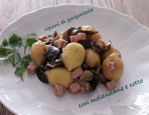 Giovedì #vogliadignocchi 7: gnocchi ripieni con gorgonzola,  alle melanzane e cotto