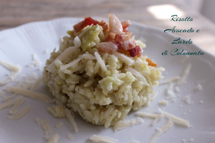 risotto avocado e lardo di colonnata