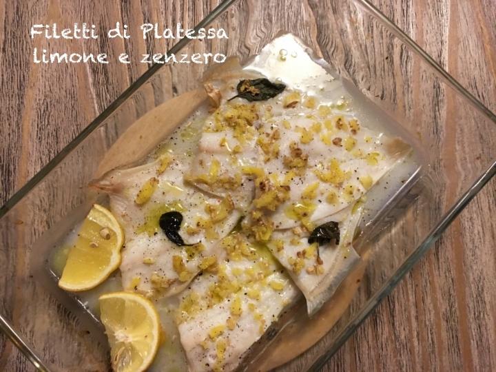 Filetti di platessa, limone e zenzero