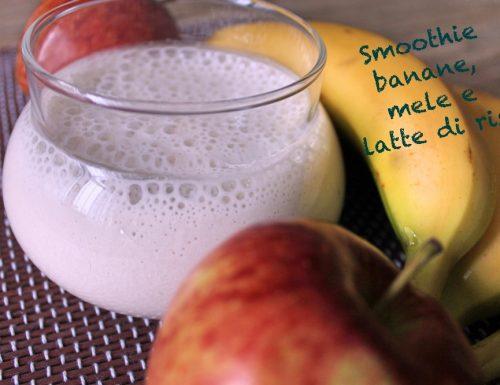 Smoothie banane, mele e latte di riso