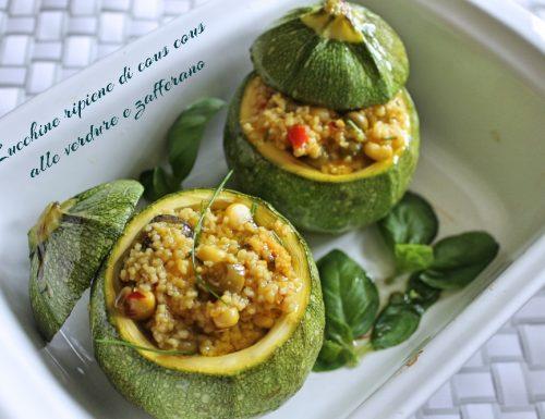 Zucchine ripiene di cous cous alle verdure