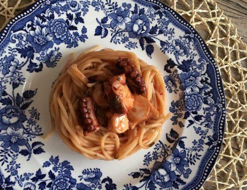 Spaghetti con il polpo…che sapore!