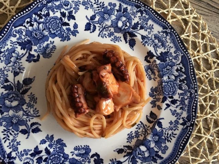 spaghetti al polpo due