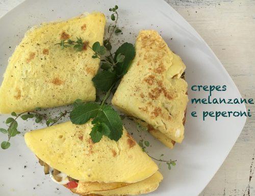 Crepes melanzane e peperoni #glutenfree #lactosefree