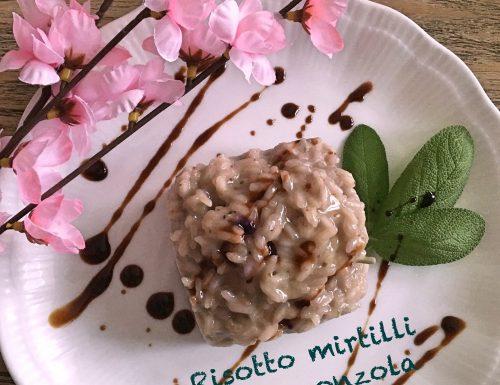Risotto mirtilli e gorgonzola #celafaccioincucina