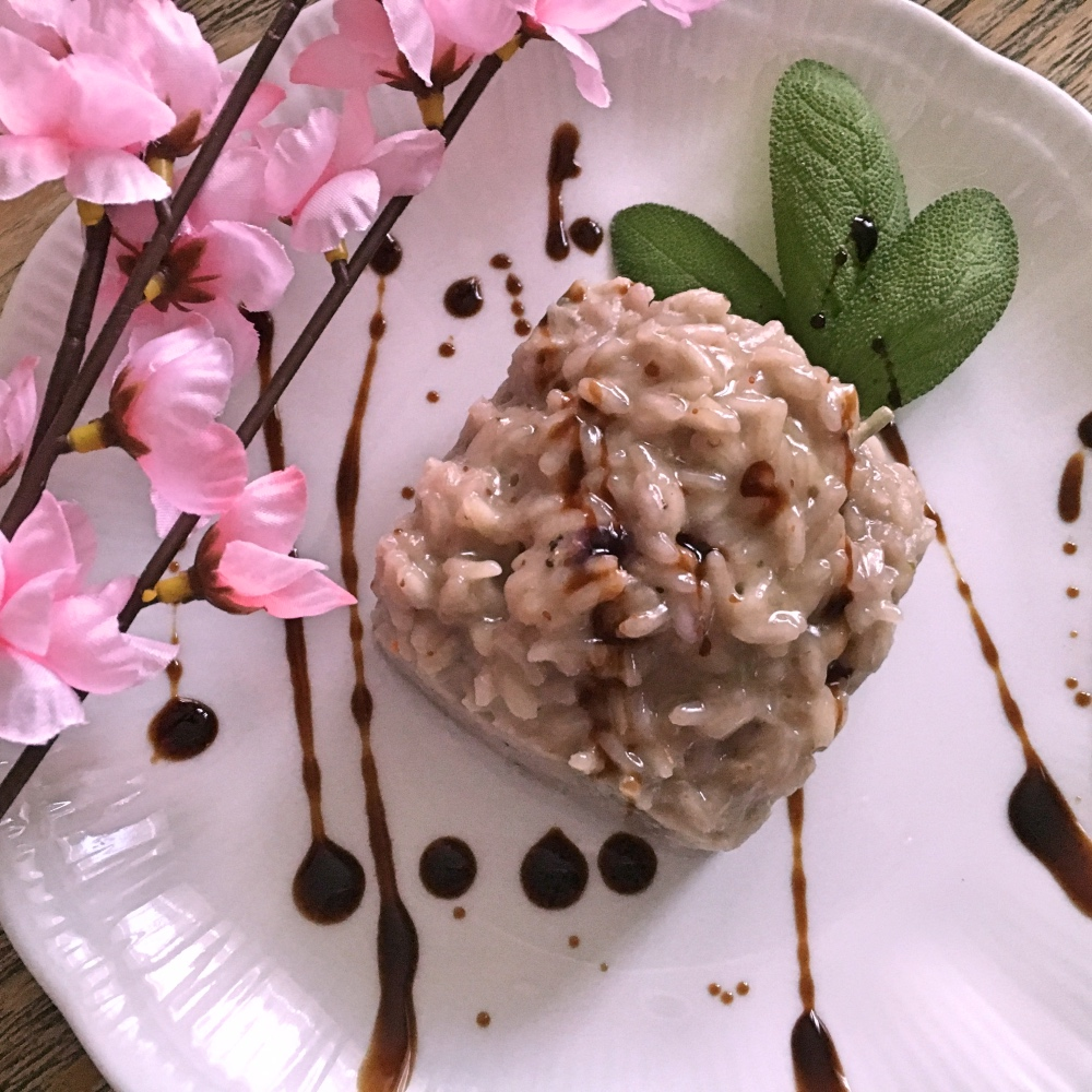 risotto mirtilli e gorgonzola 2