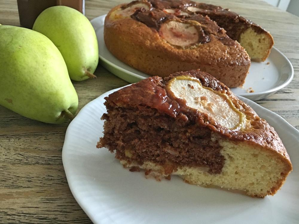 torta crema di nocciole e pere 3