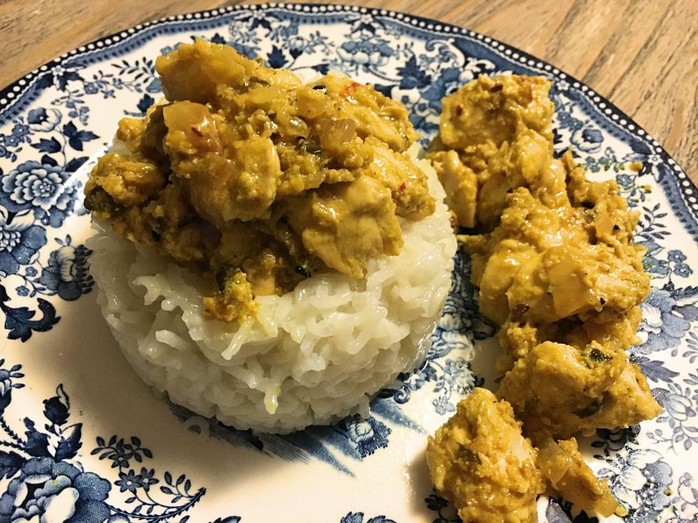 sottofiletto di pollo al curry