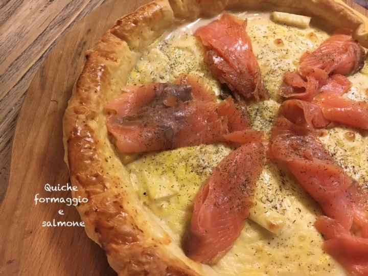 quiche formaggio e salmone