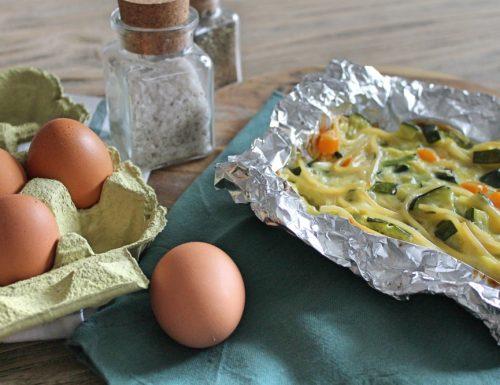 Frittata con gli spaghetti ricetta con le verdure!