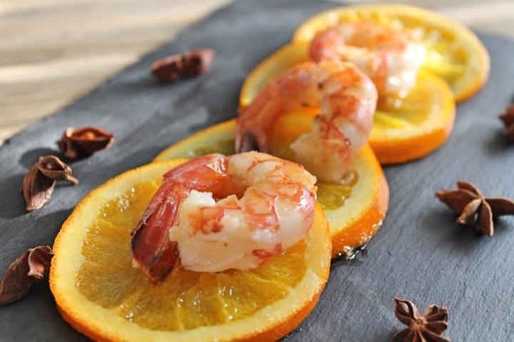 gamberi-con-arance-caramellate