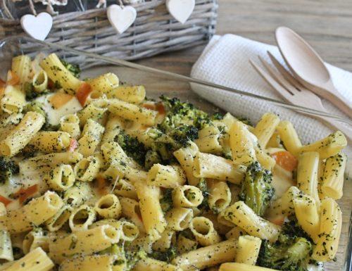 Pasta al forno broccoli e scamorza affumicata