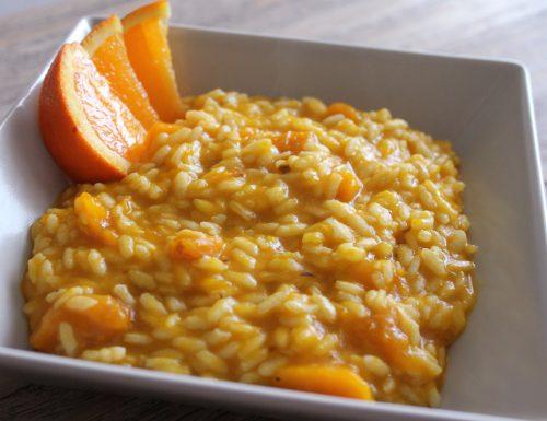 Risotto arancia e zucca per dare un po' di colore alla nostra cena!
