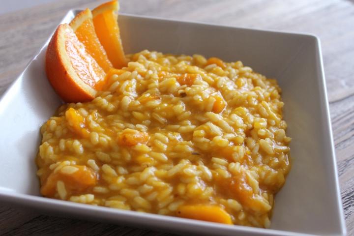 risotto arancia e zucca