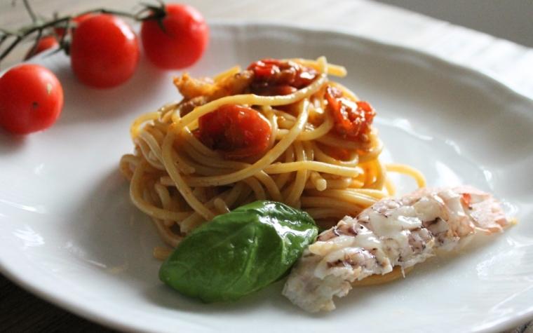 Spaghetti con le canocchie - ricetta facile e veloce