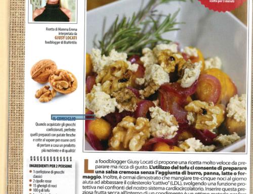 Gnocchi di Patate con crema di Noci – la mia ricetta veg su Vivere light