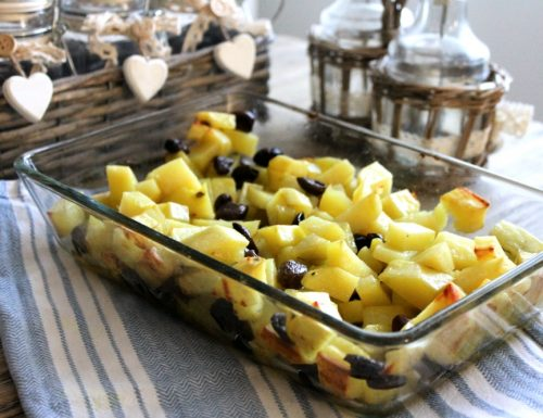 Patate e olive taggiasche al forno