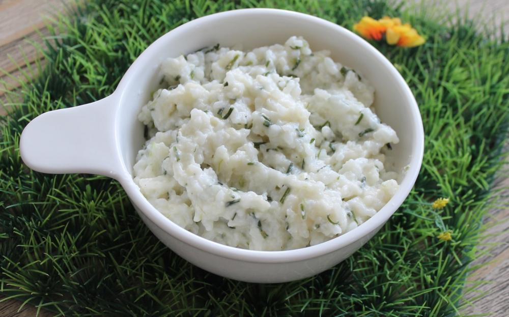 Risotto agretti e brie come cucinare gli agretti for Cucinare risotto