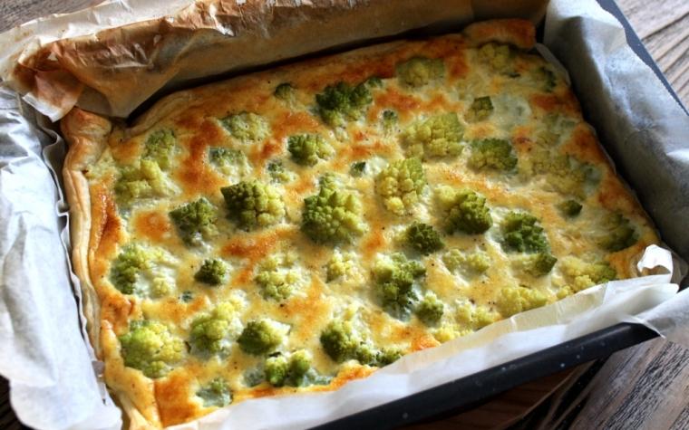 Torta salata ai broccoli romaneschi