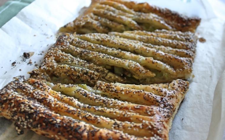 Torta salata porri e gorgonzola
