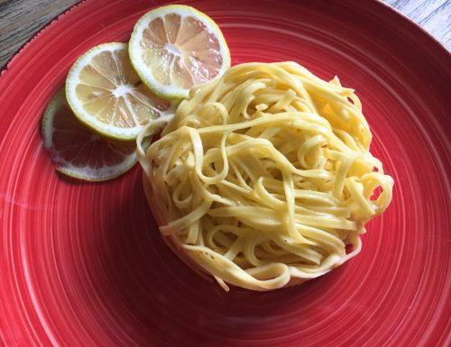 Tagliolini al limone – ricetta veloce e saporita!