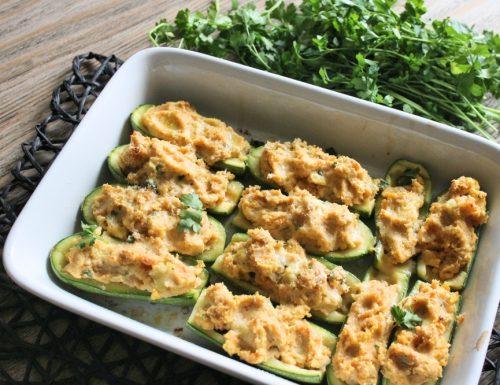 Zucchine ripiene ricotta e verdure