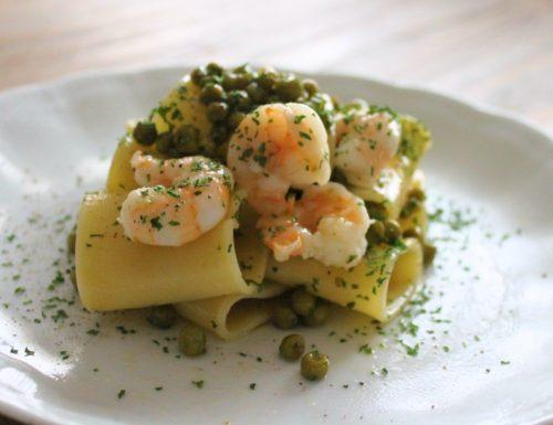 Pisellini e gamberetti e il condimento diventa speciale!