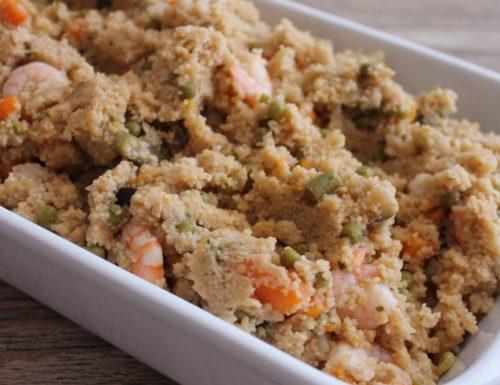 Cous cous ratatouille e gamberi – cous cous con le verdure in arrivo!