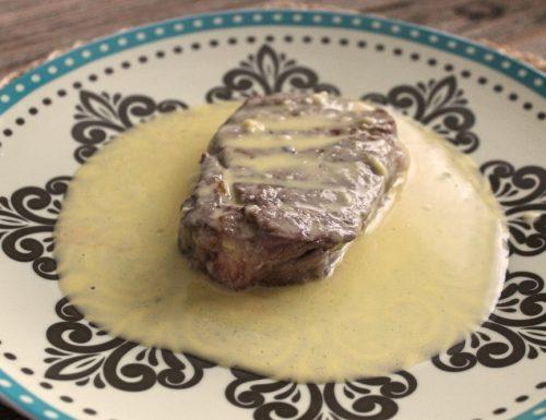 Filetto di manzo con crema salata inglese