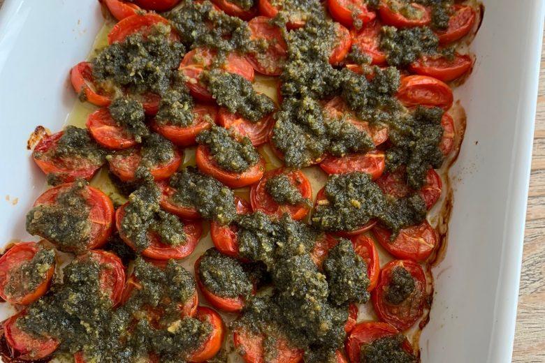 Pomodorini confit al pesto