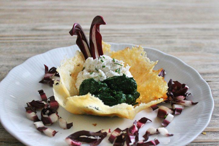 cestini di baccalà spinaci