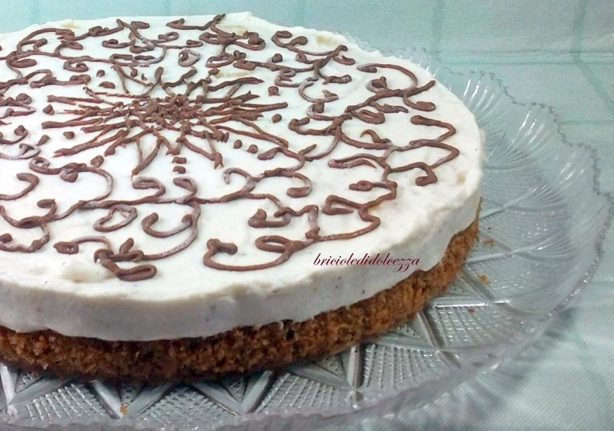 Torta Ricotta e Pesche al cioccolato