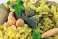 Risotto Giallo Carciofi e frutta Secca