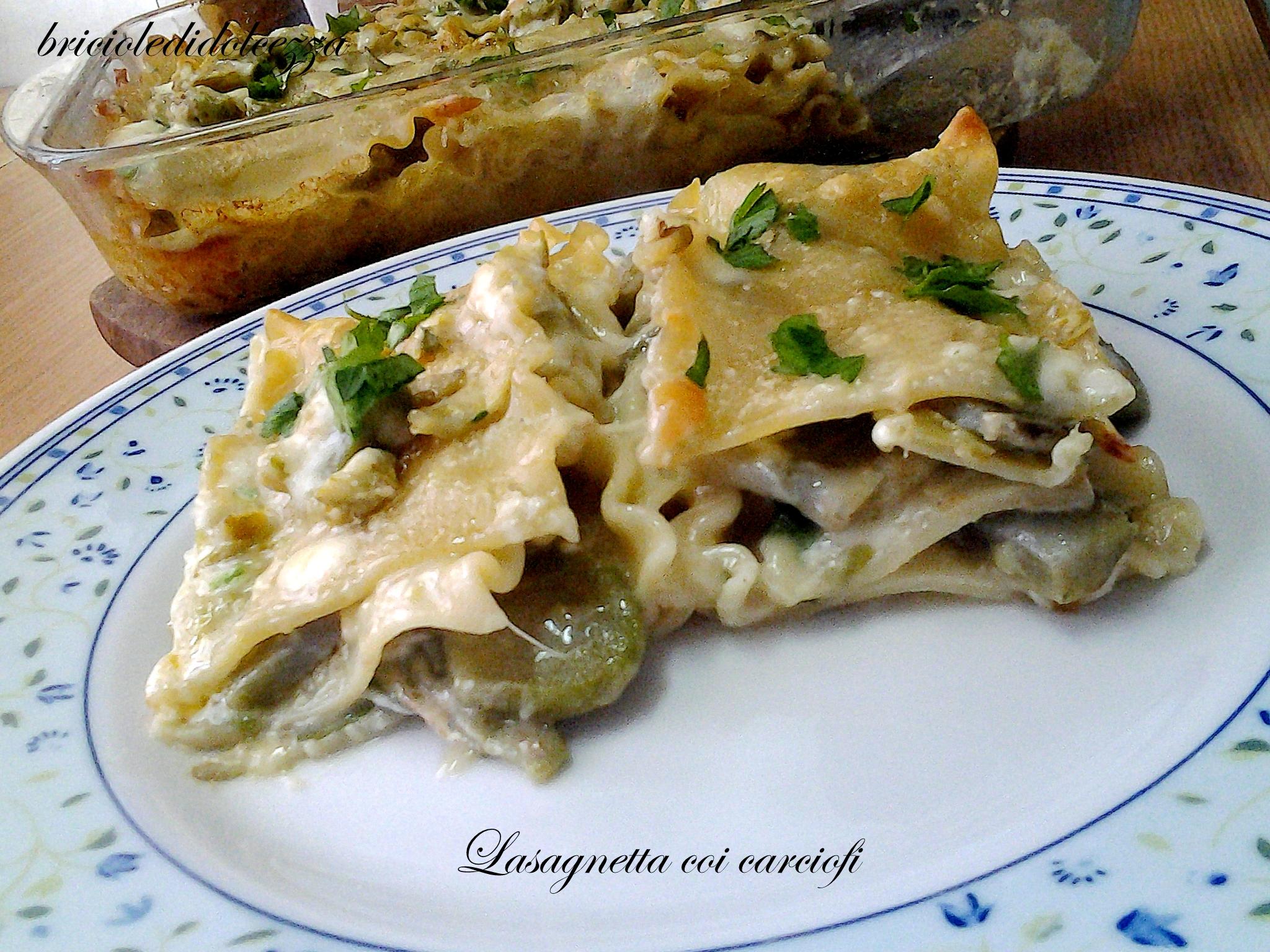 Lasagnetta Carciofi e Caciocavallo