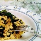 risotto ortica e zafferano