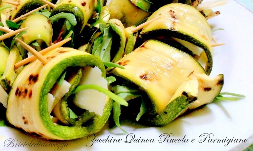 Zucchine quinoa Rucola e Parmigiano