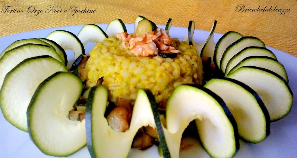 Tortino Orzo Noci e Zucchine