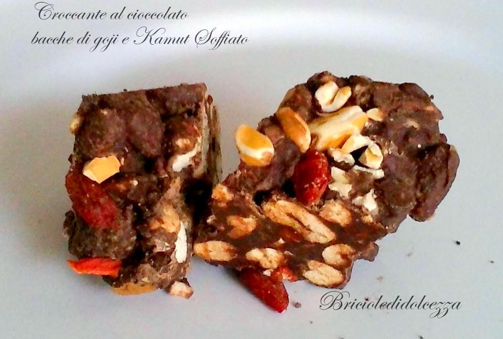 Croccante ao cioccolato Bacche di Goji e Kamut soffiato
