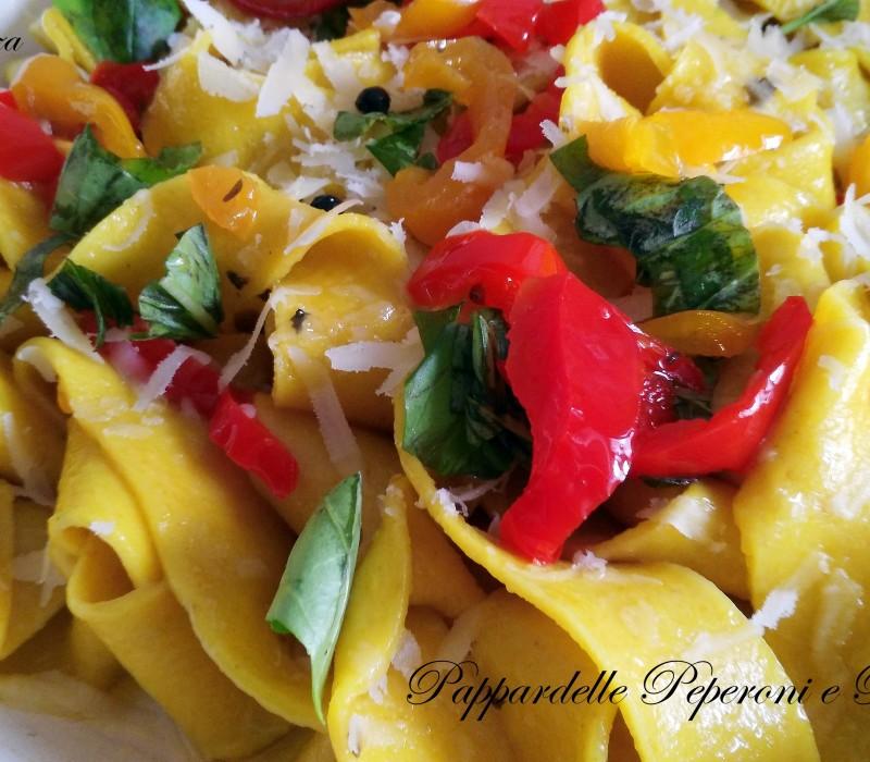 Pappardelle Peperoni e Basilico