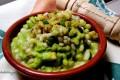 Zuppa di orzo su crema di zucchine