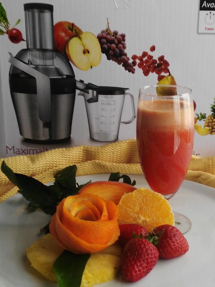 Succo Ananas Fragola e Arancia
